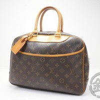 AUTH PRE-OWNED LOUIS VUITTON MONOGRAM DEAUVILLE COSMETIC HAND BAG M47270 170868