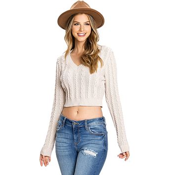 Rosemary Crop Knit