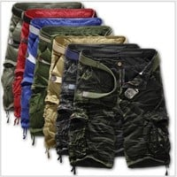Men Shorts Casual Cargo Combat Camouflage Sports Pants