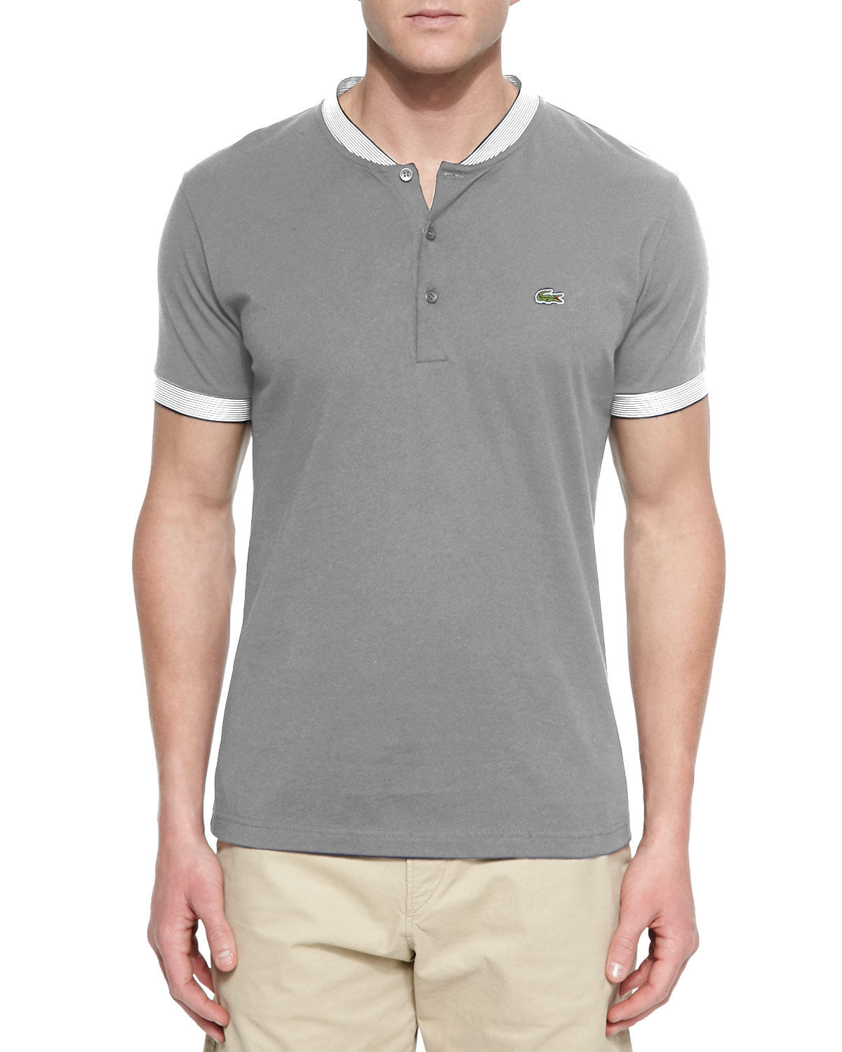 Men 39 s woven baseball collar henley shirt from neiman marcus for Mens collared henley shirt