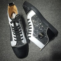 Christian Louboutin CL Rhinestone Style #1935 Sneakers Fashion Shoes Online