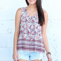 Fields of Floral Tank {Ivory Mix}