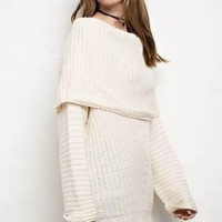 Freebird Ivory Ribbed Sweater - FINAL SALE