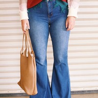 Daisy Flared Denim Jean, Denim
