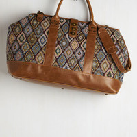 Boho Revivals and Departures Weekend Bag in Multi by ModCloth