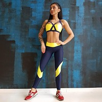 2018 Women'S Sports Sleeveless Vest Two-Piece Pants