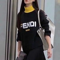 Fendi Women Round Neck Top Sweater Pullover Sweatshirt-47