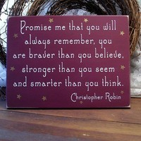 Promise me you will always remember Wood by CountryWorkshop