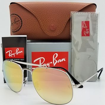 NEW Rayban General sunglasses RB3561 003/7O 57mm Silver Copper Pink Mirror 3561
