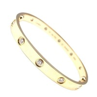 Cartier Love Bracelet Yellow Gold Size 17 10 Diamond