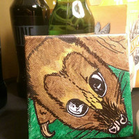 Small bat painting on canvas