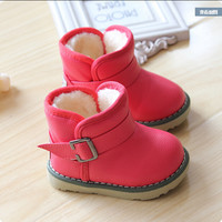 2016 Brand Waterproof Children Boots Winter Baby Shoes Girls Cotton - Padded Shoes Ankle Boys Boots