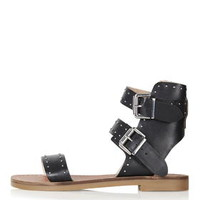 FLOWER Studded Sandal - Black