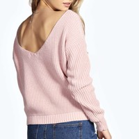 Nikkita V Back Crop Jumper