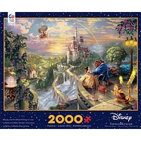 Disney Kinkade Beauty And The Beast Falling In Love 2000 Pcs Puzzle New With Box