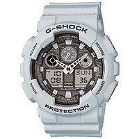 Casio G-Shock Mens LG Analog Digital Chronograph - Magnetic Resistant - Ice Gray