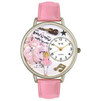 Whimsical Unisex Ballet Shoes Pink Leather Watch