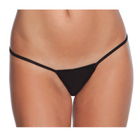 Low Rise Lycra G-string Black O-s