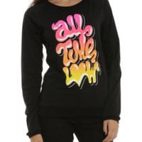 All Time Low Neon Logo Girls Long-Sleeved Top