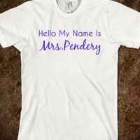 HELLO...MRS.PENDERY