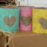 #Napkin #rings, napkin #ring #holder , #green #mint #burlap, 4 pcs - #rustic #yellow #wedding  #heart #love #paste #idea