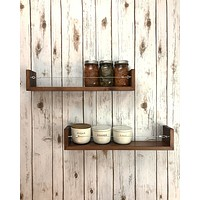 Large Farmhouse Shelf Set / Spice Rack Set