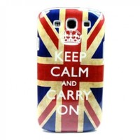 """ivencase Retro Keep Calm UK Hard Case Cover for Samsung Galaxy S 3 III S3 I9300 + One phone sticker + One """"ivencase"""" Anti-dust Plug Stopper"""