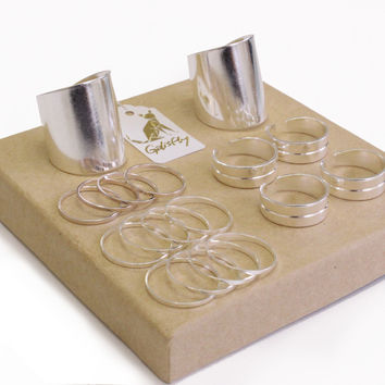 Silver Stack Ring Box