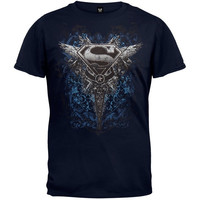 Superman - Dagger Logo T-Shirt - Dark Blue (Size: XL, Color: Dark blue) = 1946821892