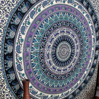 Bohemian Wall Tapestries, Indian Bedding Queen, Elephant Wall Hanging, Mandala Tapestry, Outdoor Table Cover, Dorm Hippie Decor