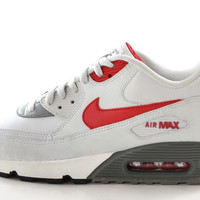 Nike Air Max 90 Men's Base Gray/Red/Black Running Gym/Trainers Shoes 537384 026