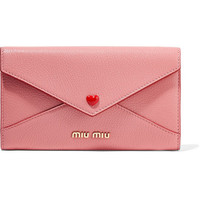 Miu Miu - Envelope textured-leather wallet