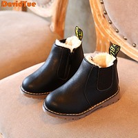 2017 davidyue new Kids Shoes Boys Girls Boots Winter Classic Children Shoes British Style Martin Boots kids baby boots