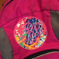 Lilly Pulitzer Monogrammed Patch to Iron or Sew on