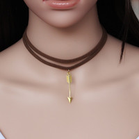 SIMPLE - Women's leather velvet Necklace Collarbone Chain a13506