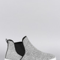 Women's Qupid Textured High Top Slip On Sneaker