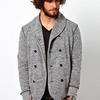 Diesel Sweat Jacket Smogami Double Breasted Marl at asos.com