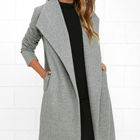 Cozy Kind of Love Heather Grey Coat
