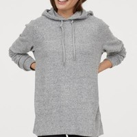Oversized Hooded Sweatshirt - Gray melange - Ladies | H&M US