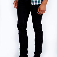 Skinny Fit Ripped Knee Jeans