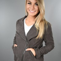 Charcoal Suede Jacket