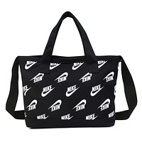 NIKE Fashion Women Men Shopping Bag Canvas Tote Crossbody Satchel Shoulder Bag Handbag Black I-A30-XBSJ