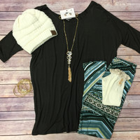 Simple Love Tunic Top: Olive