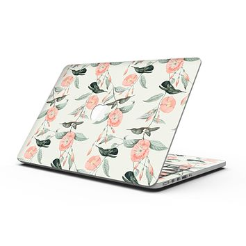The Coral Flower and Hummingbird on Branches - MacBook Pro with Retina Display Full-Coverage Skin Kit