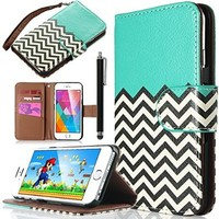iPhone 6 Case, iPhone 6S Case, ULAK Premium Flip Wallet case for Apple iPhone 6 / 6S 4.7 inch - Magentic Synthetic Leather Cover with Card Slots / Holder (Follow the sky-2014 version)
