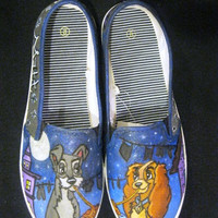 Hand Painted Lady and the Tramp shoes