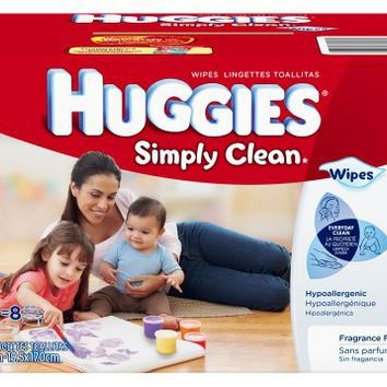 Huggies Simply Clean Fragrance Free Baby Wipes Refill, 600 Count | deviazon.com