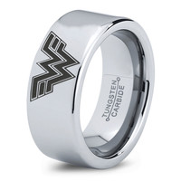 Wonder Woman Ring Comics Ring Jewelry Fanatic Geek Sci Fi Science Fiction Girls Womens Wonder Woman Ring Tungsten Carbide 203