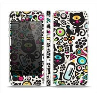The Cute, Colorful One-Eyed Cats Pattern Skin Set for the Apple iPhone 5