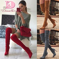 Women's Fashion Thigh High Heeled Boots